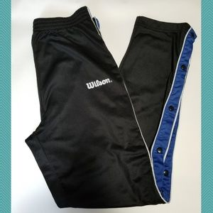 Wilson Black & Blue Snap-Up Athletic Pants
